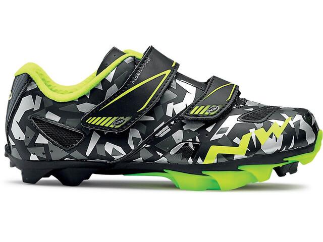 Northwave Hammer Junior Shoes Juniors camo/yellow fluo